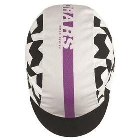 ASSOS Dyora RS Gorra Mujer, blanco/violeta